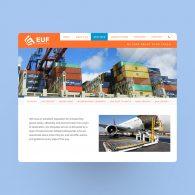 Shipping Company Website Design